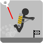 Stickman fly flight icon