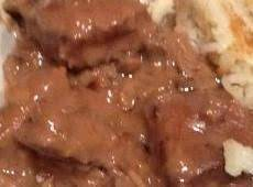 Baked Round Steak With Gravy