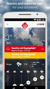 Weather Alarm for Switzerland- screenshot thumbnail