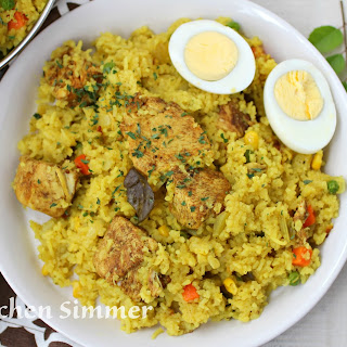 Chicken and Yellow Rice One Pot Dish