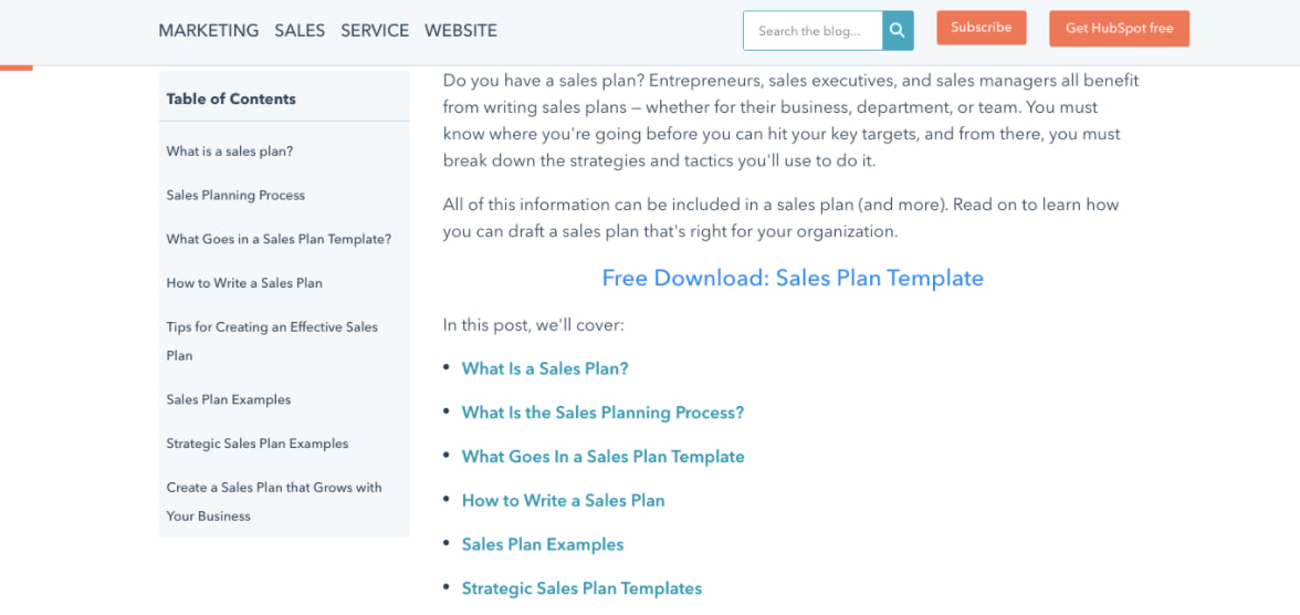 variant C of the hubspot blog chapter module AB test