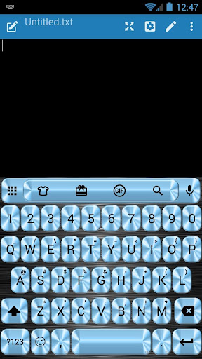 Metallic Blue Emoji Keyboard