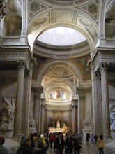 """Photo: Visit over, and now on to the Pantheon - another often passed but never visited Paris landmark. Originally built as a church dedicated to St. Genevieve and to house her relics, but after many changes, it now functions as a """"secular temple"""" containing the remains of distinguished French citizens."""