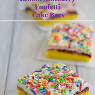 Lemon Blueberry Funfetti Cake Bars.