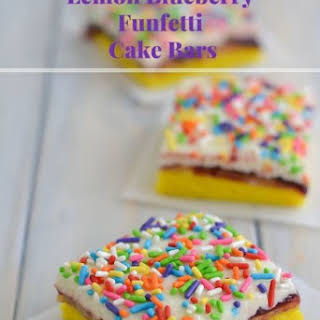 Lemon Blueberry Funfetti Cake Bars.