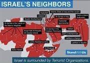"""Minuscule Israël entouré de quelques voisins qui lui veulent du """"bien""""."""