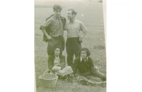 Слева направо: Тимофеевский, Мельников, Винникова, Улановская.