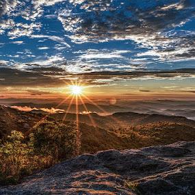 Black Balsam by Jeremy Yoho - Landscapes Sunsets & Sunrises ( clouds, mountains, sky, sunset, sunrise )