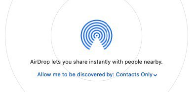 AirDrop lets you share instantly with people nearby
