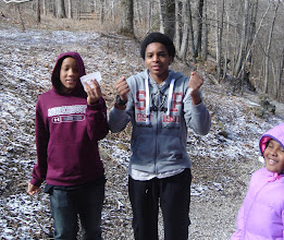 Photo: Jihad & Miles playing with ice