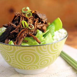 Slow Cooker Spicy Shredded Beef With Soy, Ginger And Garlic