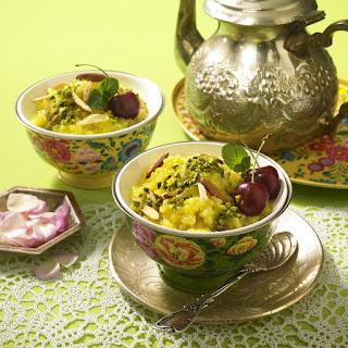 Saffron Rice Pudding.