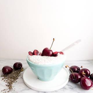 Almond Cherry Chia Pudding.