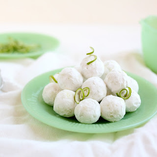 White Chocolate and Lime Truffles.