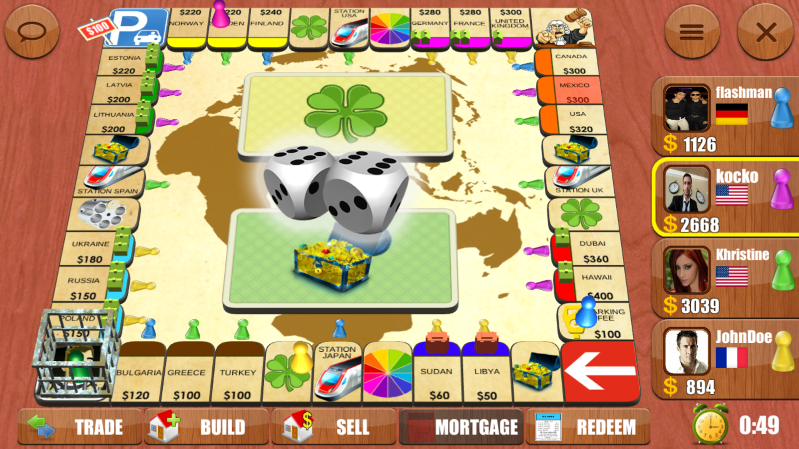 Game board colors - Rento Dice Board Game Online Screenshot
