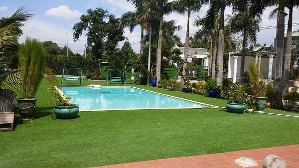 Xây dựng bể bơi tại không gian thoáng đãng ngoài trời