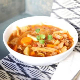 Cabbage and Beef Soup.