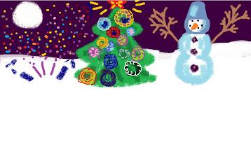 Photo: Большева Аня, 5 класс, Кожинская СОШ  «Новый год» Что такое новый год? Елка , снеговик, игрушки, Огоньки, салют, хлопушки, Вот что значит Новый год!