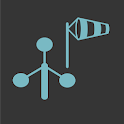 Wind speed and direction icon