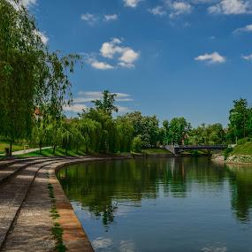 lazy water  by Marjan Gresl - City,  Street & Park  City Parks ( pastoral, sviming, river )