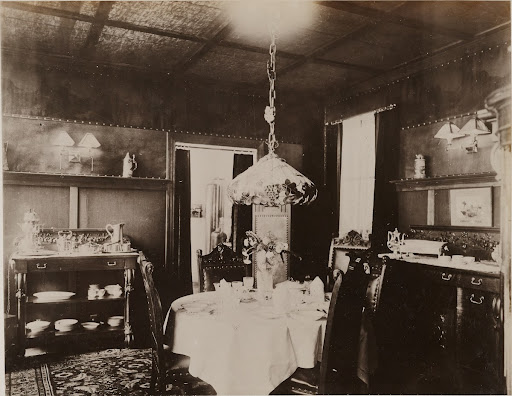 Dining room, Brooklyn Edison Co., model apartment, New York Electrical Show
