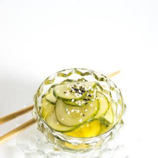 Japanese Quick Pickled Cucumber.