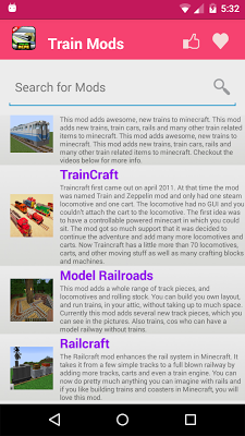 Train Mod For MCPE. - screenshot