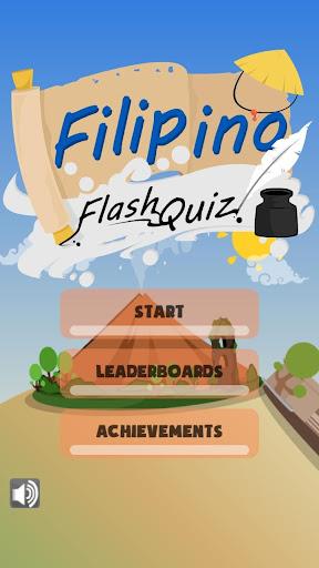 Filipino Words Flash Quiz Game