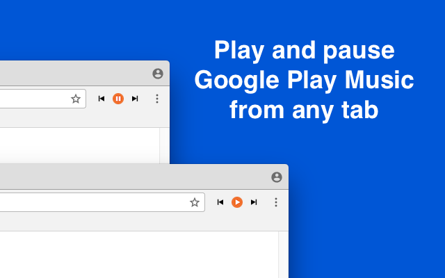 One-Click Controls for Google Music