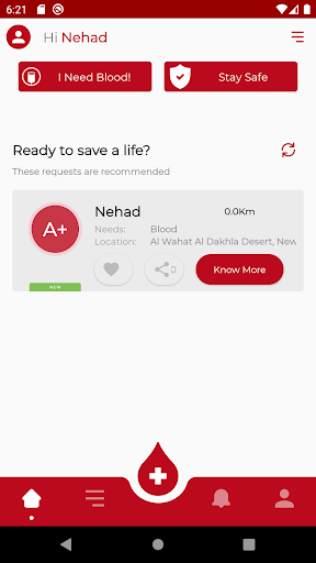 RED - Blood Donation App ss1