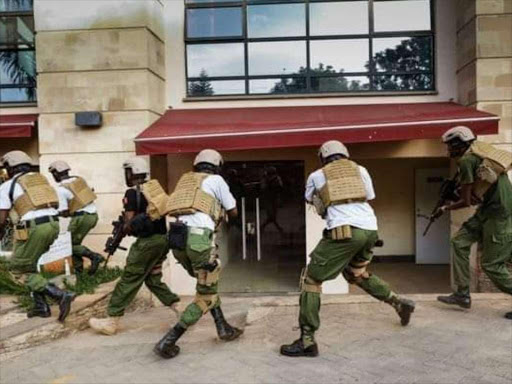 Special forces make their way into DusitD2 hotel and complex. /COURTESY