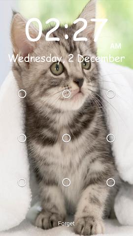 android Kitty Pattern Lock- Screenshot 4