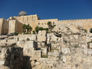 Photo: Dome of the chain visible above on the Temple Mount