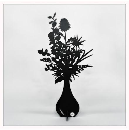 Blombukett Spira svart