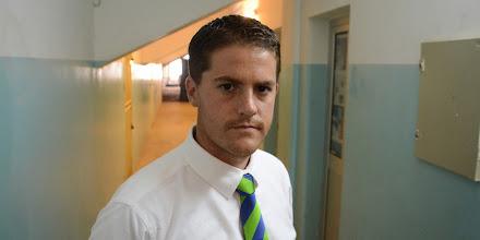 Photo: Leone Stars Head Coach Johnny McKinstry  [in Cape Verde, June 2013 (Pic: Darren McKinstry)]