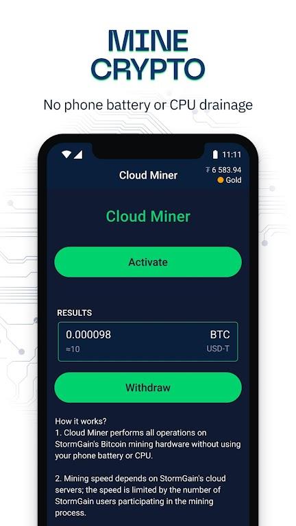 StormGain: Kripto Para Ticaret  Madencilik 2021