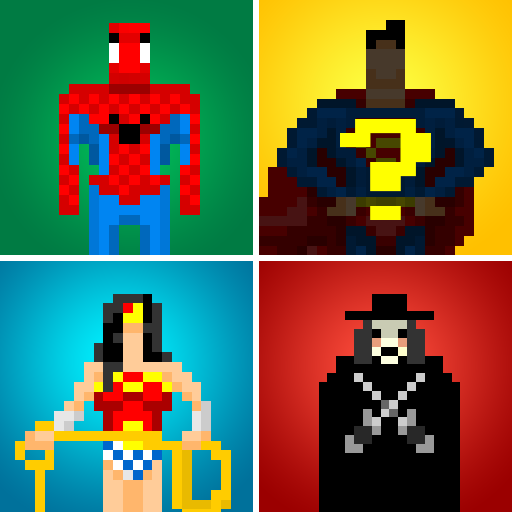 Guess the Pixel: Comics Heroes 動作 App LOGO-硬是要APP