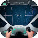 Pilot in space simulator icon