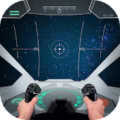 Pilot in space simulator