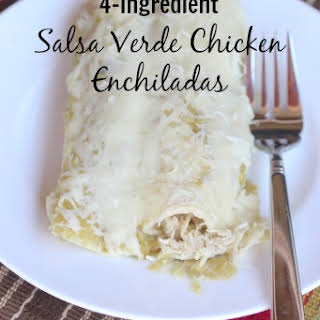 4-Ingredient Salsa Verde Chicken Enchiladas.