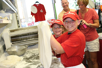 Photo: Mike Dunn and family makin there own pies!
