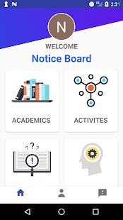 NoticeBoardApp - náhled