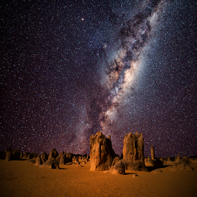 Desert Sands by Greg Tennant - Landscapes Starscapes ( rocks, galaxy, milky way )