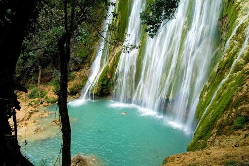 Dominican-Republic-Cascada-Limon - Cascada Limon waterfall near Samana in the Dominican Republic.