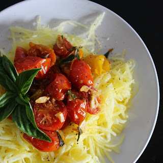 Herb and Garlic Roasted Tomatoes with Spaghetti Squash Recipe