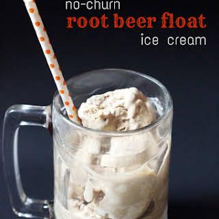 No-Churn Root Beer Float Ice Cream.