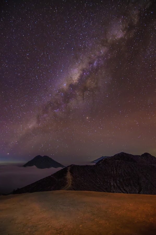Ijen Mountain at night by Vincent Wikardo - Landscapes Mountains & Hills ( #mountain, #ijen, #nightscape, #milkway, #indonesia )