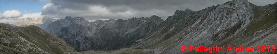 Photo: Panorama 13 verso il Rifugio Vallaccia, il meteo cambia