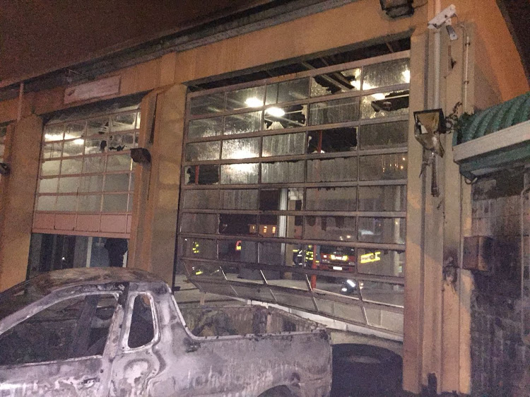Gugulethu Fire Station was set on fire by protesters in the early hours of 12 July 2018, damaging parts of the building.