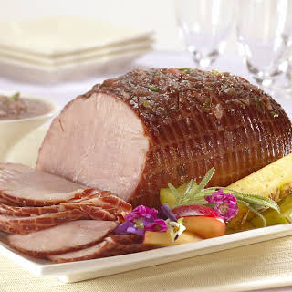 Baked Ham with Sweet 'n' Sour Plum Sauce.